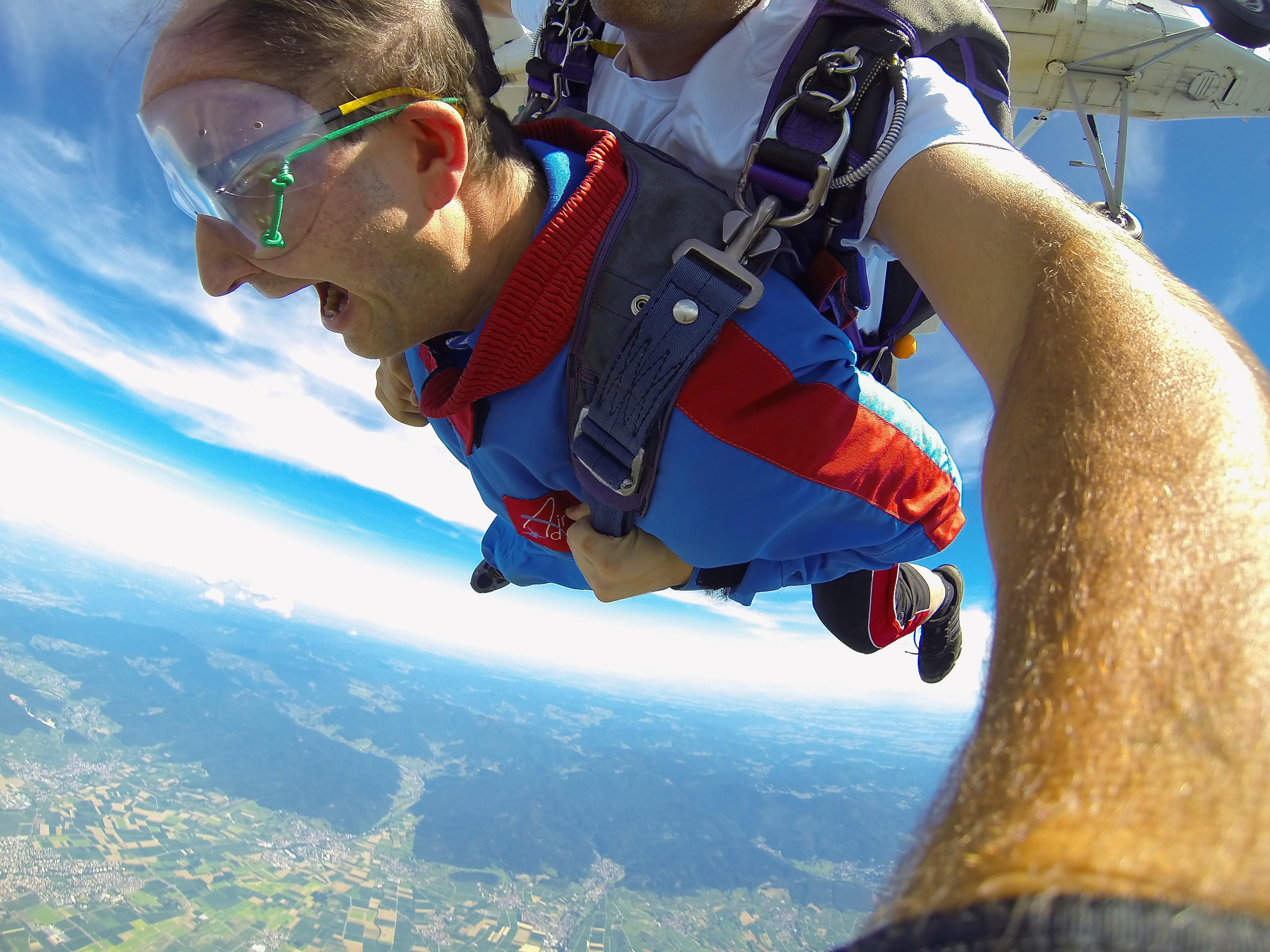 Fallschirmsprung aus 4000 Metern