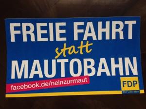 Aufkleber der FDP Bundespartei